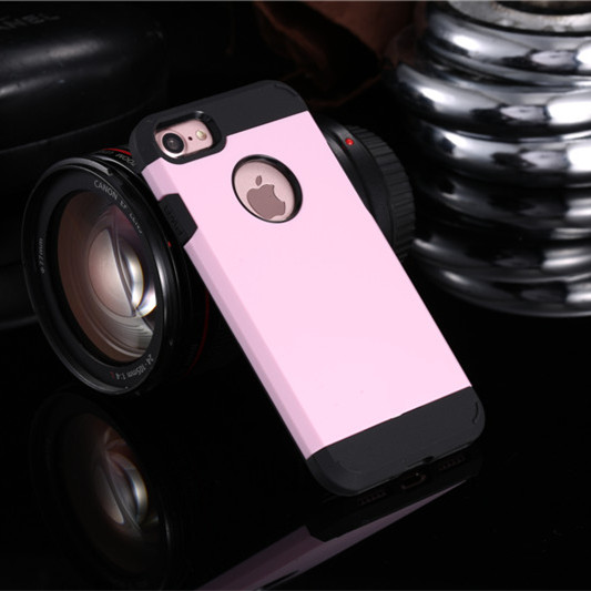 Pink Shockproof Armor iPhone 7 Case