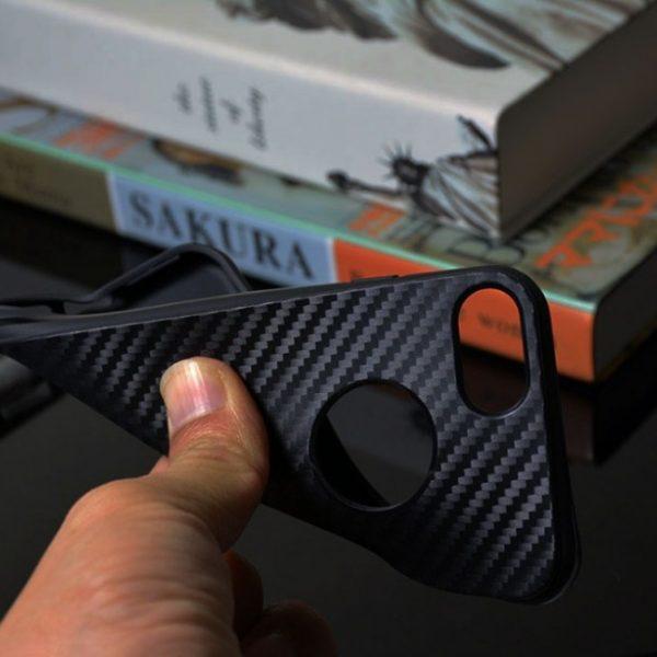 carbon fiber black iPhone 7 tpu cases