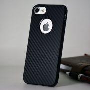 carbon fiber iPhone 7 soft logo case