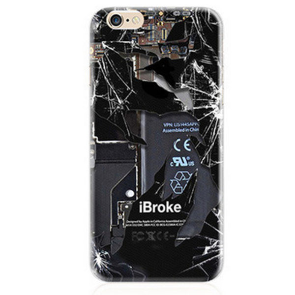 ibroke open back machine circuit board li ion battery iPhone 7 Plus Case
