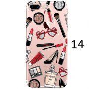 makeup brush heart glasses mascara high heel eau de parfum paris palette lipstick kylie jenner iphone 7 plus case