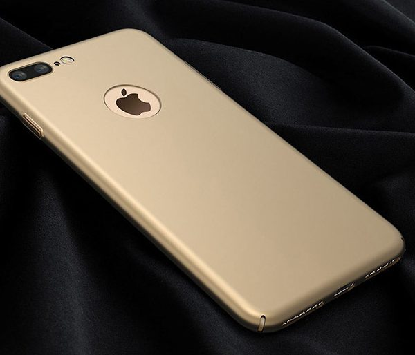 gold matte luxury iphone 7 plus case