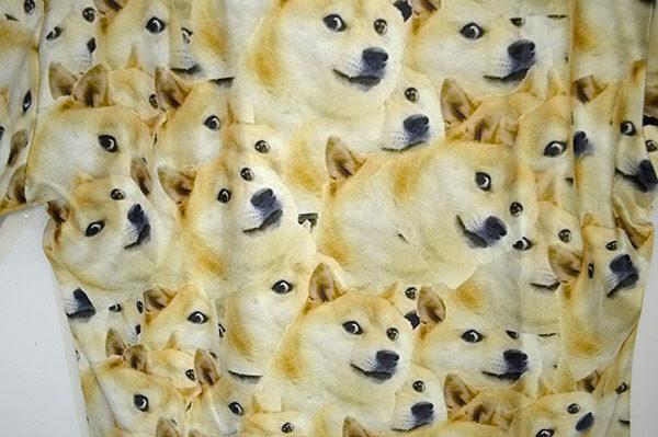 shiba inu print t-shirts