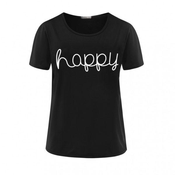 Happy women's t-shirt black
