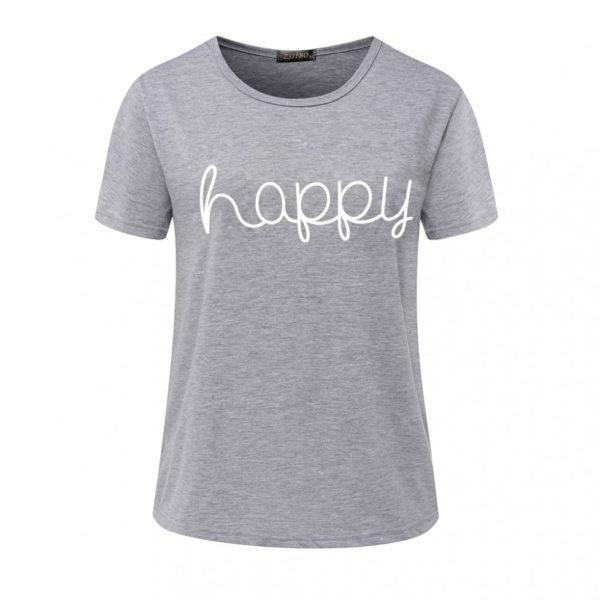 Happy women's t-shirt grey