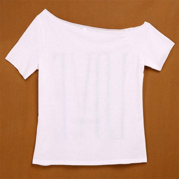 LOVE one shoulder women's white shirt