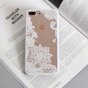 White lace iphone 7 plus case