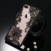 black floral lace iphone 7 plus case