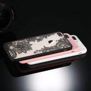 black pink white lace iphone 7 plus case